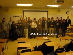 CPSC 110, Class portrait, February 2, 2010
