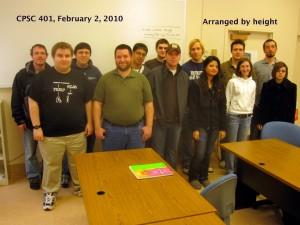 CPSC 401, class portrait, Feb 2, 2010