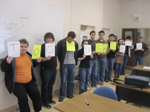 CPSC 401 Class Portrait, February 9, 2010
